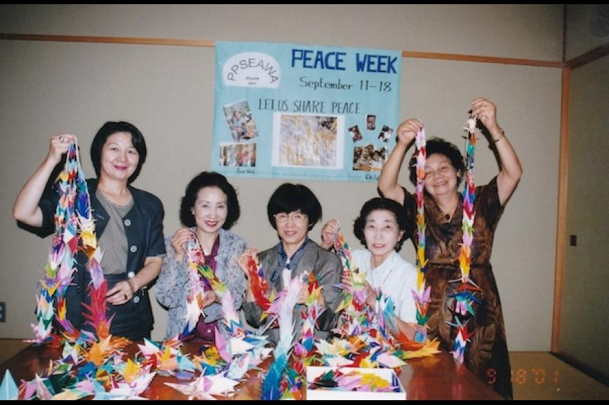 PPSEAWA Japan origami cranes for Peace Day 2010
